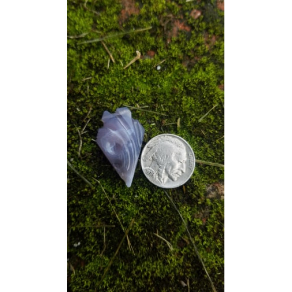 Holley Blue Agate free-form carving